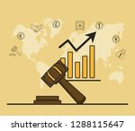 finance and trading cartoon | Shutterstock .eps vector #1288115647