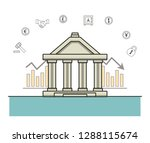 finance and trading cartoon | Shutterstock .eps vector #1288115674