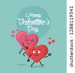 love valentines cartoon | Shutterstock .eps vector #1288119541
