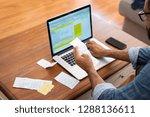 hands of businessman analyzing... | Shutterstock . vector #1288136611