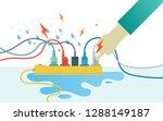 dangerous from rainy or water... | Shutterstock .eps vector #1288149187