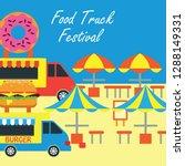 food truck festival banner and... | Shutterstock .eps vector #1288149331