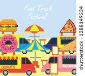 food truck festival banner and... | Shutterstock .eps vector #1288149334