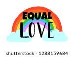 hand drawn vector rainbow ...   Shutterstock .eps vector #1288159684