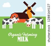 farm fresh organic foods.... | Shutterstock .eps vector #1288164127