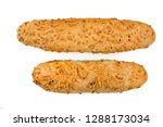 pair of fresh buns with cheese  ... | Shutterstock . vector #1288173034