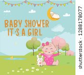 cute baby shower template.... | Shutterstock .eps vector #1288178077