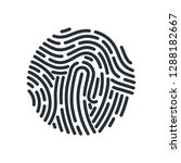 abstract round bio metric... | Shutterstock .eps vector #1288182667