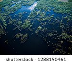 aerial view of reeds. drone... | Shutterstock . vector #1288190461
