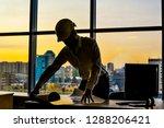 silhouette builder engineer...   Shutterstock . vector #1288206421