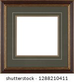 picture frame isolated on white ... | Shutterstock . vector #1288210411