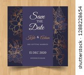 save the date wedding... | Shutterstock .eps vector #1288228654