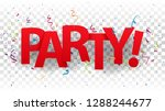party sign letters with... | Shutterstock . vector #1288244677
