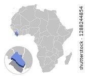 vector illustration of liberia... | Shutterstock .eps vector #1288244854