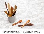 handcrafted wooden utensils in...   Shutterstock . vector #1288244917