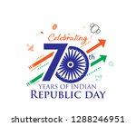 70 years of indian republic day ... | Shutterstock .eps vector #1288246951