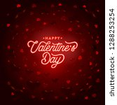 happy valentines day typography ... | Shutterstock .eps vector #1288253254