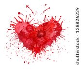 blob in the form of heart.... | Shutterstock .eps vector #128826229