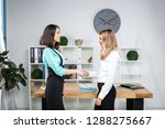theme business women. two young ... | Shutterstock . vector #1288275667