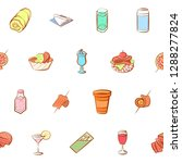 american food  cheeses  drinks  ... | Shutterstock .eps vector #1288277824
