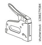 staple gun contour vector...   Shutterstock .eps vector #1288279384