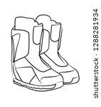 snowboard boots vector...   Shutterstock .eps vector #1288281934
