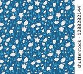 flower pattern. endless... | Shutterstock .eps vector #1288282144
