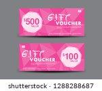 pink gift voucher template ... | Shutterstock .eps vector #1288288687