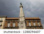 san domenico obelisk in naples... | Shutterstock . vector #1288296607