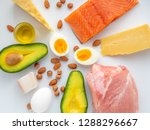 top view of selection of...   Shutterstock . vector #1288296667