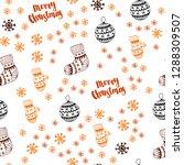 dark orange vector seamless... | Shutterstock .eps vector #1288309507