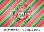 bigoted christmas style emblem. | Shutterstock .eps vector #1288311547