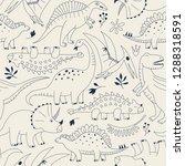 hand drawn seamless pattern... | Shutterstock .eps vector #1288318591