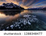 sunrise with ice bubbles ... | Shutterstock . vector #1288348477