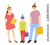 happy family with baby... | Shutterstock .eps vector #1288348501