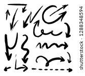 drawn arrow set illustration... | Shutterstock .eps vector #1288348594
