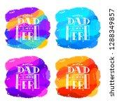 dad super hero hand draw doodle ... | Shutterstock .eps vector #1288349857