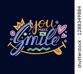 you make me smile inspirational ... | Shutterstock .eps vector #1288349884