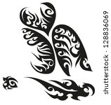 tattoo designed for a man's body | Shutterstock . vector #128836069