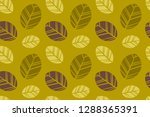 leaf pattern  ready to be... | Shutterstock .eps vector #1288365391