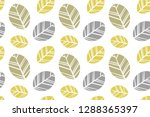 leaf pattern  ready to be... | Shutterstock .eps vector #1288365397