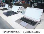 laptops in a modern technology... | Shutterstock . vector #1288366387
