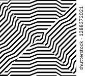 square striped black and white... | Shutterstock .eps vector #1288372021