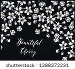 beautiful cherry  vector... | Shutterstock .eps vector #1288372231