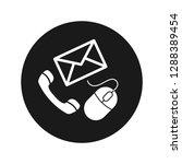 contact icon vector...   Shutterstock .eps vector #1288389454
