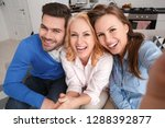 young family man and woman with ... | Shutterstock . vector #1288392877