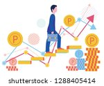 points of temporary staff and... | Shutterstock .eps vector #1288405414