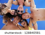 group of happy young people... | Shutterstock . vector #128840581