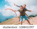 beautiful happy family in... | Shutterstock . vector #1288411597