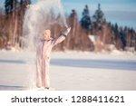 portrait of little girl... | Shutterstock . vector #1288411621